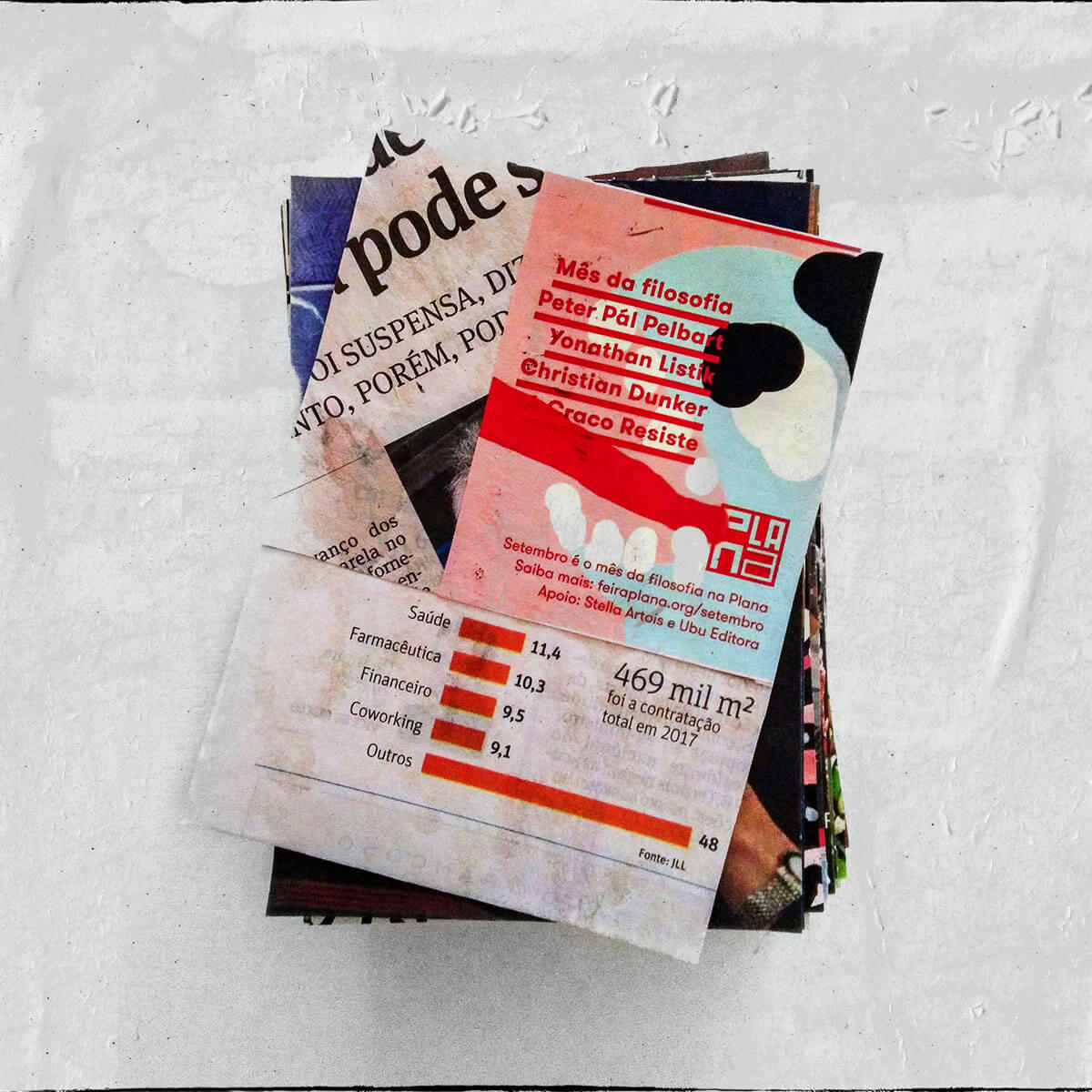 Cartões 18 de janeiro, Colagem — ColetivoPolvora Folha Piauí 18 de janeiro capa