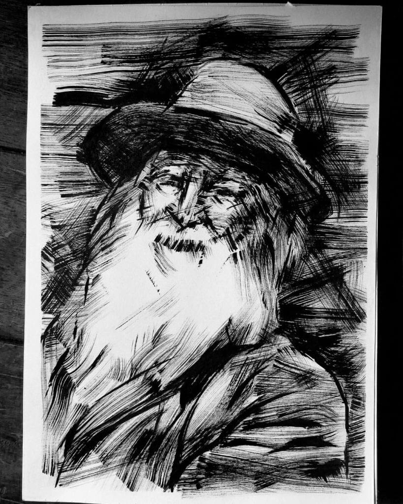 Pincel Seco, Ilustração — ColetivoPolvora pincelseco3