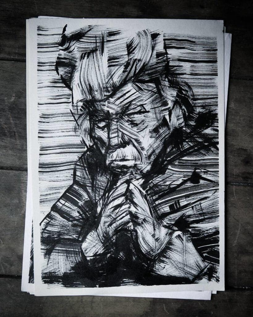 Pincel Seco, Ilustração — ColetivoPolvora pincelseco4
