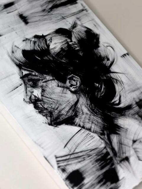 Pincel Seco, Ilustração