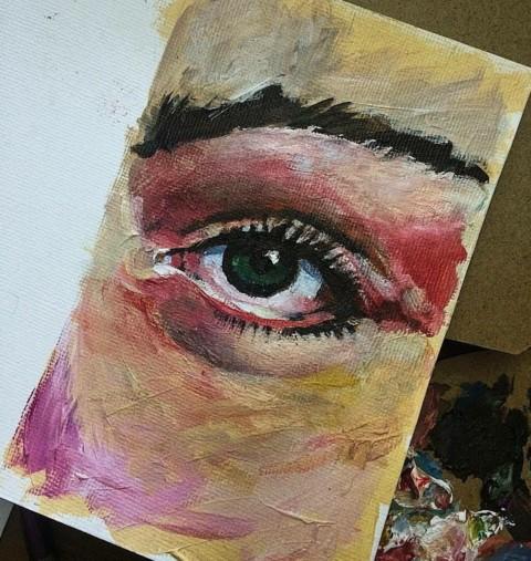 Série Olhos, Pintura
